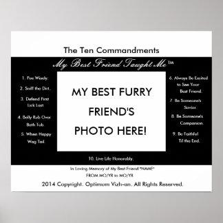 Los diez mandamientos mi mejor amigo me enseñaron posters