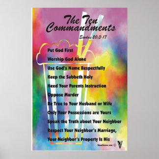 Los diez mandamientos poster