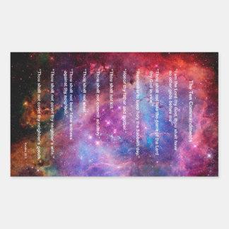 Los diez mandamientos rectangular altavoces