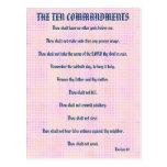 Los diez mandamientos pican la postal de la rejill