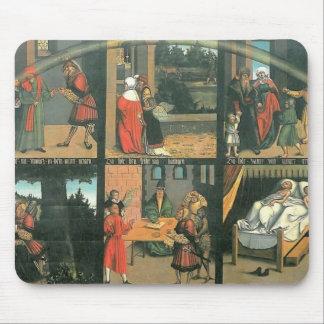Los diez mandamientos por Lucas Cranach la anciano Mouse Pad