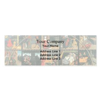 Los diez mandamientos por Lucas Cranach la anciano Tarjeta De Visita