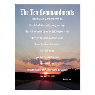 Los diez mandamientos - postal de la puesta del so