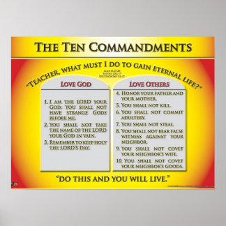 Los diez mandamientos póster