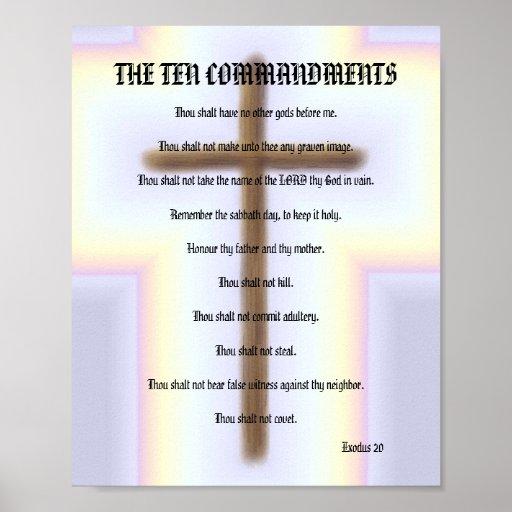 Los diez mandamientos - poster cruzado del arco ir