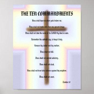 Los diez mandamientos - poster cruzado del arco ir póster