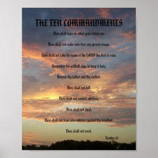 Los diez mandamientos - poster de la luna del pino póster