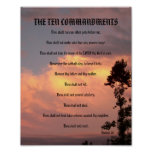 Los diez mandamientos - poster de la puesta del so