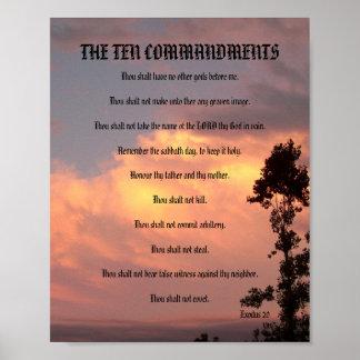 Los diez mandamientos - poster de la puesta del so póster