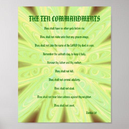 Los diez mandamientos - poster floral amarillo sua