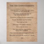 Los diez mandamientos posters