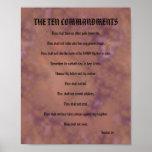 Los diez mandamientos - rojo manchado poster