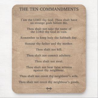 Los diez mandamientos tapetes de raton