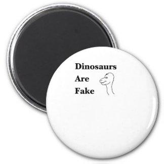 Los dinosaurios son falsificación imán redondo 5 cm