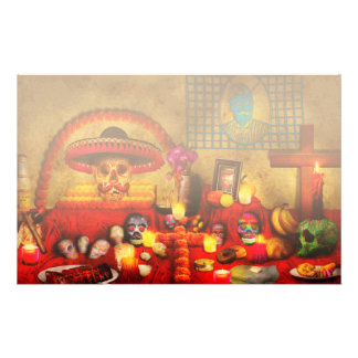 Los dios muertos - Rembering loved ones Customized Stationery