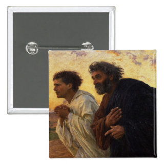 Los discípulos Peter y funcionamiento de Juan Pin Cuadrada 5 Cm