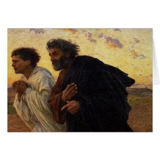Los discípulos Peter y funcionamiento de Juan Tarjeta De Felicitación