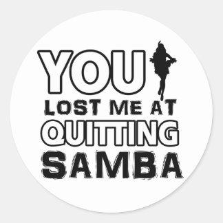 Los diseños de la samba harán un gran artículo del pegatina redonda