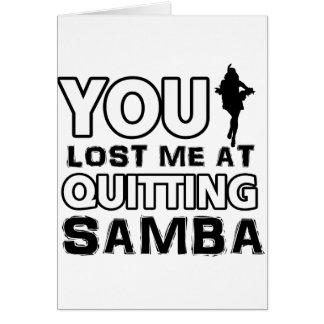 Los diseños de la samba harán un gran artículo del tarjeta de felicitación