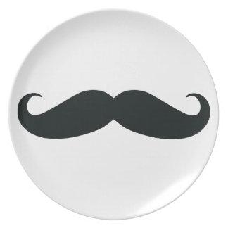 Los diseños del bigote platos para fiestas
