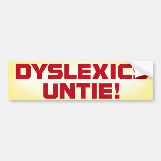 Los disléxicos desatan a la pegatina para el parac pegatina de parachoque