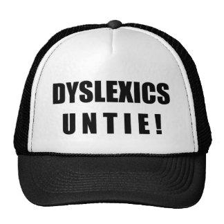 ¡Los disléxicos desatan! Gorra