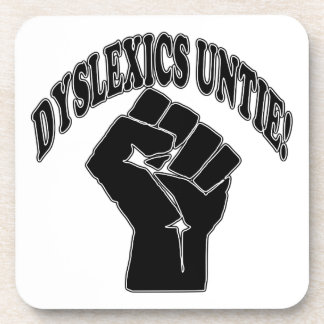 Los disléxicos desatan posavasos