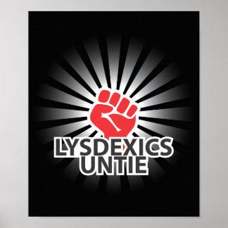 ¡Los disléxicos unen! Posters