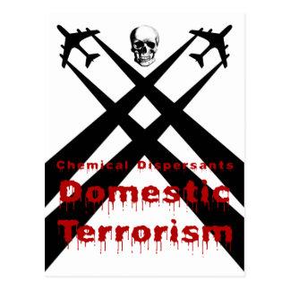 Los dispersores químicos son terrorismo nacional postales