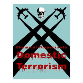 Los dispersores químicos son terrorismo nacional tarjetas postales