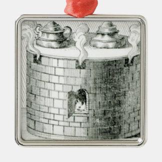 Los dispositivos para guardar el agua y la comida ornamento para reyes magos