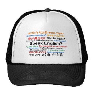 ¿Los diversos productos de la lengua - hable inglé Gorros