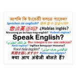 ¿Los diversos productos de la lengua - hable inglé Tarjetas Postales