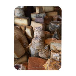 Los diversos quesos en mercado atascan, marco comp iman rectangular