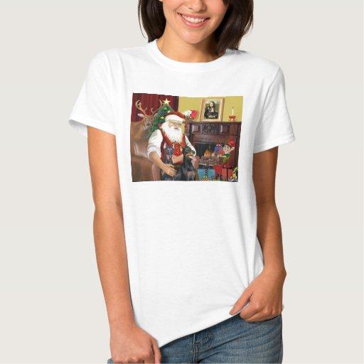 Los Dobermans de Santa dos T Shirt