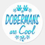 Los Dobermans son frescos Pegatina Redonda