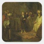 Los doce años Jesús delante del Pegatina Cuadrada