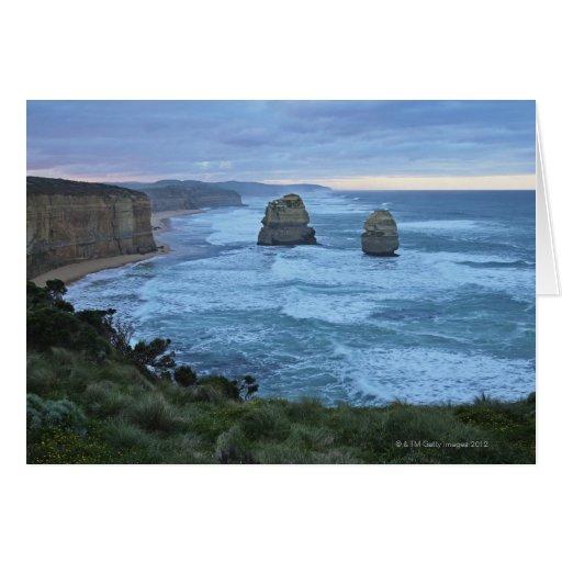 Los doce apóstoles, gran camino del océano felicitación