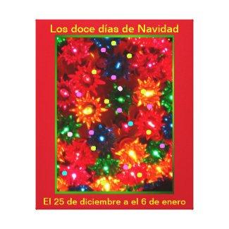 Los doce días de Navidad - Arte en lienzo Lámina Canvas Print