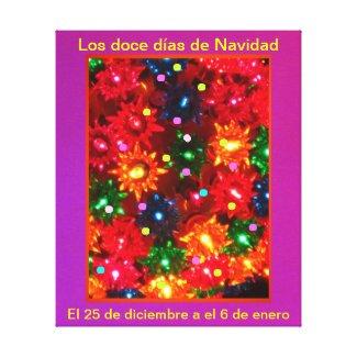 Los doce días de Navidad - Arte en lienzo Lámina Gallery Wrapped Canvas