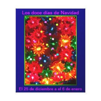Los doce días de Navidad - Arte en lienzo Lámina Canvas Prints