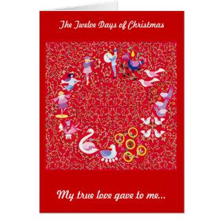 Los doce días de navidad felicitación