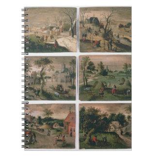 Los doce meses del año: Enero, febrero, Cuaderno