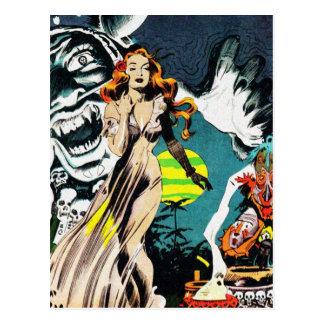 Los doctores de bruja encanto - vintage cómico postal