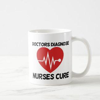 Los doctores Diagnose Nurse Cure Tazas