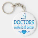 Los doctores Make él mejor Llaveros Personalizados