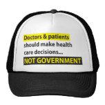 Los doctores Not Government Gorro De Camionero