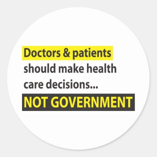 Los doctores Not Government Pegatinas Redondas