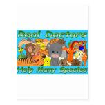 Los doctores reales tratan todas las especies - a postal