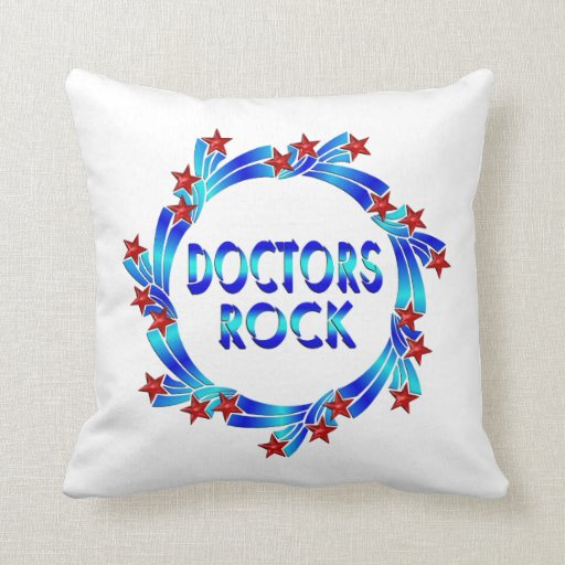 Los doctores Rock Red Stars Cojines